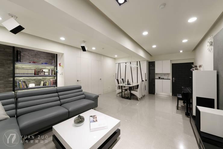 客餐廳視覺感:  客廳 by 元作空間設計