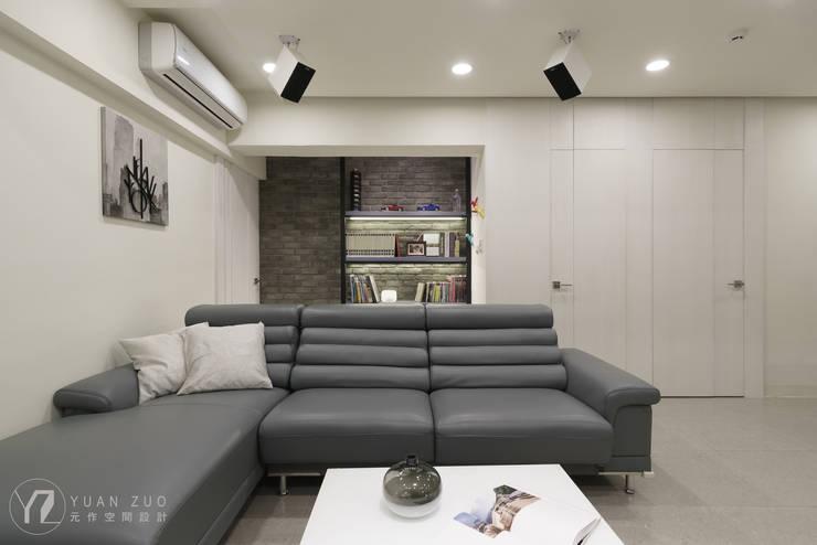 沙發背牆:  牆面 by 元作空間設計