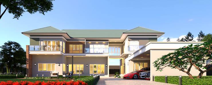 บ้านจำลอง 3D :  บ้านและที่อยู่อาศัย by บริษัท พี นัมเบอร์วัน ดีไซน์ แอนด์ คอนสตรัคชั่น จำกัด
