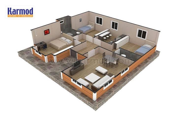KARMOD PREFABRICATED TECHNOLOGIES – Karmod 98 m2 Prefabricated House:  tarz