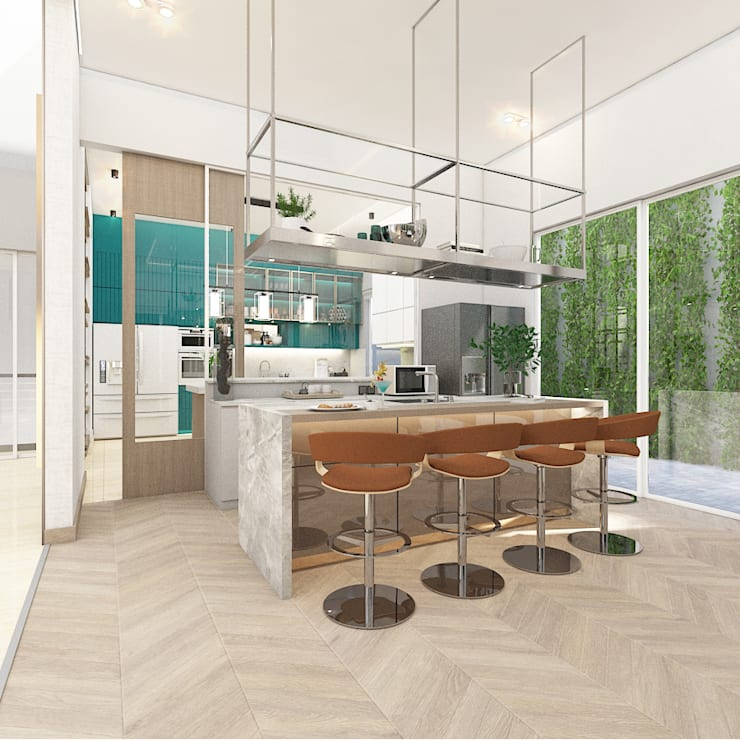 Kitchen and mini bar :   by PT. Mimo Interior Asia