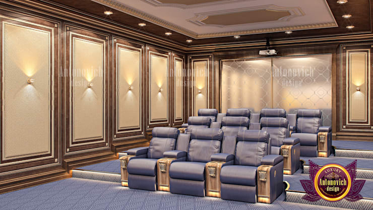 "Stunning Home Cinema Design: {:asian=>""asian"", :classic=>""classic"", :colonial=>""colonial"", :country=>""country"", :eclectic=>""eclectic"", :industrial=>""industrial"", :mediterranean=>""mediterranean"", :minimalist=>""minimalist"", :modern=>""modern"", :rustic=>""rustic"", :scandinavian=>""scandinavian"", :tropical=>""tropical""}  by Luxury Antonovich Design,"