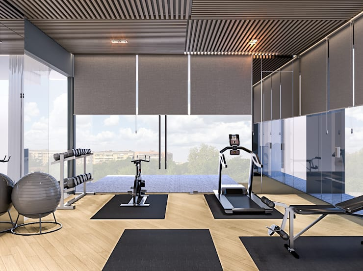 Ruang Gym :   by PT. Mimo Interior Asia