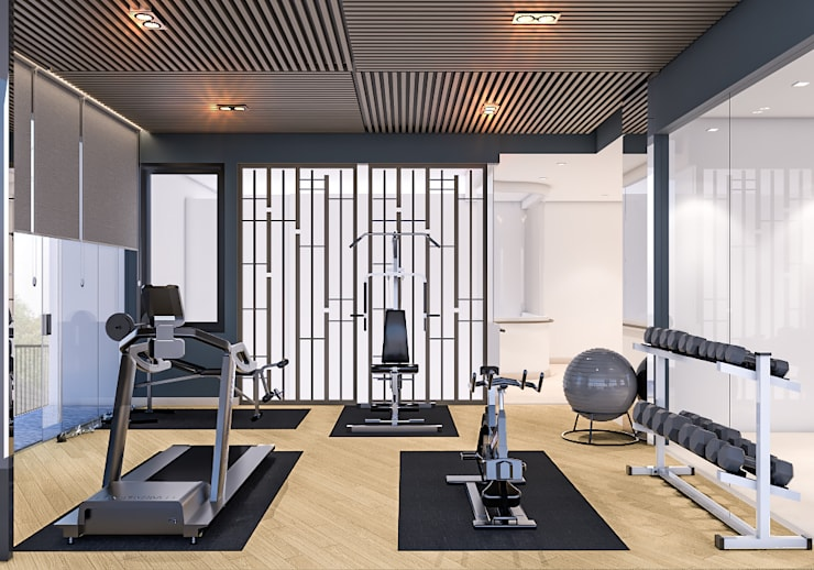 Ruang Gym (Tampak Samping) :   by PT. Mimo Interior Asia