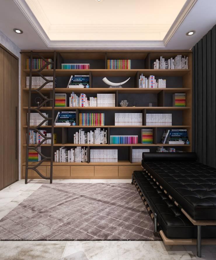 Perpustakaan dan Ruang Kerja 2:   by PT. Mimo Interior Asia
