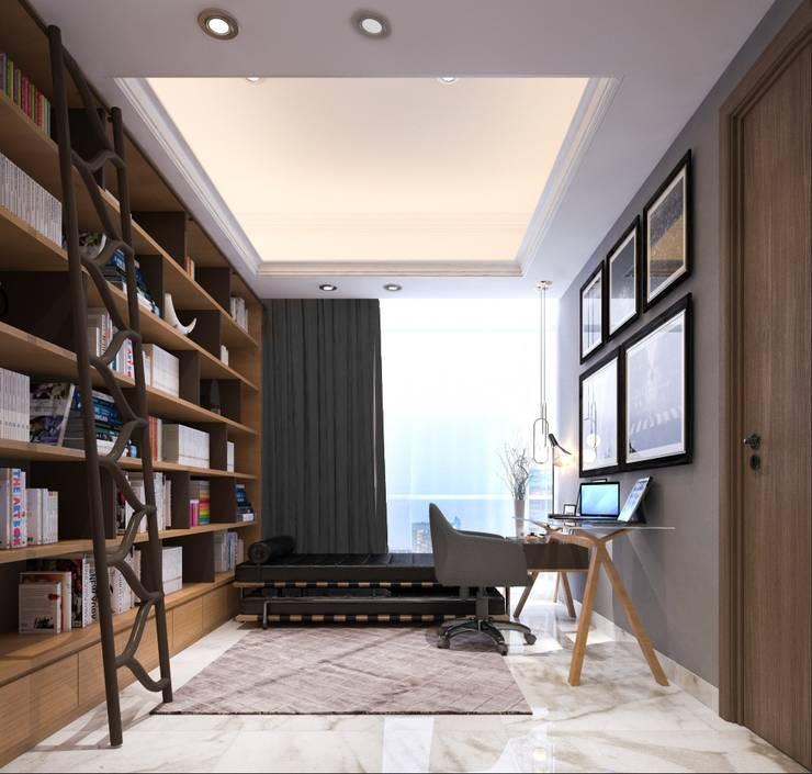 Perpustakaan dan Ruang Kerja 3:   by PT. Mimo Interior Asia