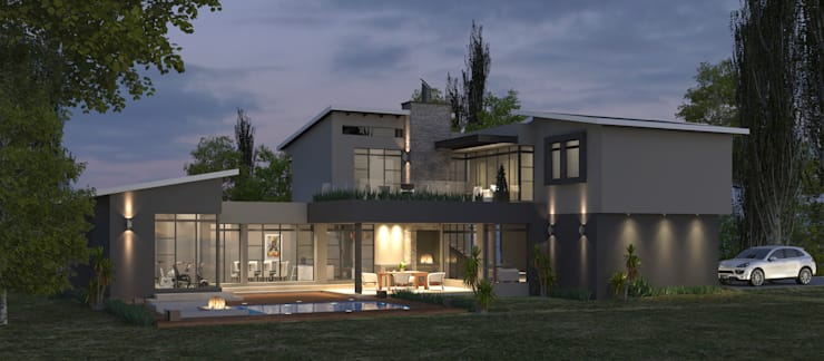 Residential Design Eye Of Africa:  Houses by Red Square Architectural Studio, Modern Concrete