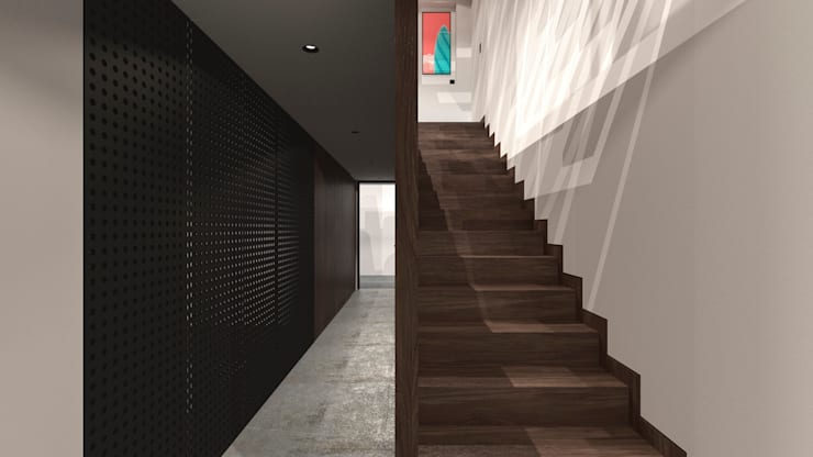 Corridor, hallway & stairs by TW/A Architectural Group