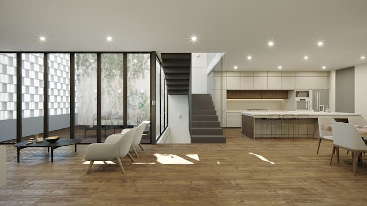 Living room by TW/A Architectural Group