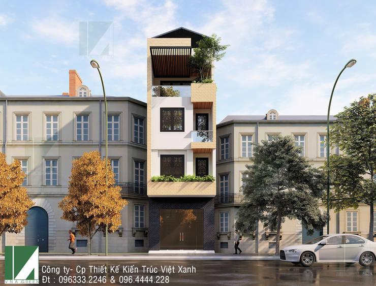 NHÀ PHỐ 4 TẦNG - QUÁN NAM - HẢI PHÒNG :   by công ty cổ phần Thiết kế Kiến trúc Việt Xanh