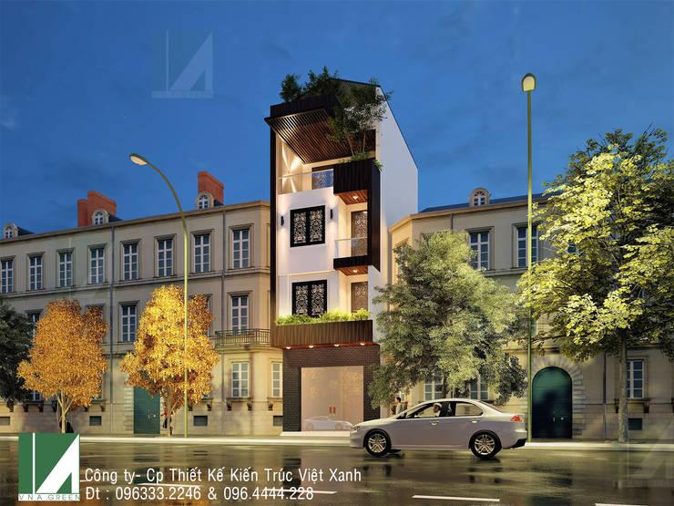 NHÀ PHỐ 4 TẦNG - LÊ CHÂN - HẢI PHÒNG :   by công ty cổ phần Thiết kế Kiến trúc Việt Xanh