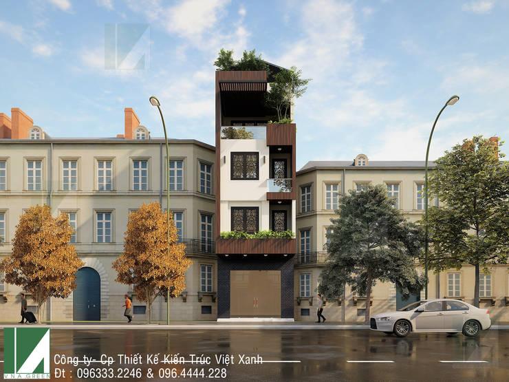 NHÀ PHỐ 4 TẦNG – LÊ CHÂN – HẢI PHÒNG :   by công ty cổ phần Thiết kế Kiến trúc Việt Xanh