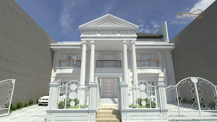 Fasad depan:   by Residencia