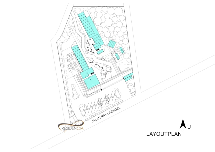 Layout plan retails:   by Residencia