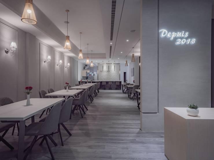 REVIVRE 法式餐廳:  餐廳 by 木博士團隊/動念室內設計制作