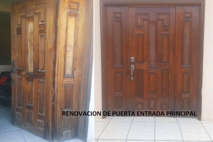 Renovacion Puerta De Madera Entrada Principal De Servicios Calo Homify