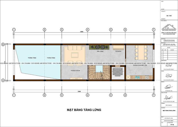 Mẫu nhà phố tân cổ điển kết hợp kinh doanh:   by Công ty CP kiến trúc và xây dựng Eco Home