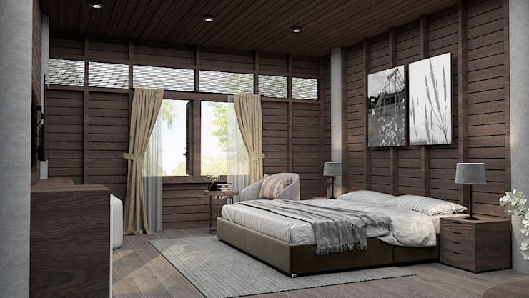 Deluxe Room - Hug sa Hotel:  ตกแต่งภายใน by IDC-INNHOME DESIGN AND CONSTRUCTION