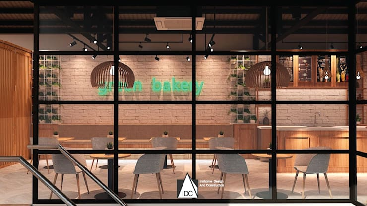 Bakery Cafe':  ตกแต่งภายใน by IDC-INNHOME DESIGN AND CONSTRUCTION