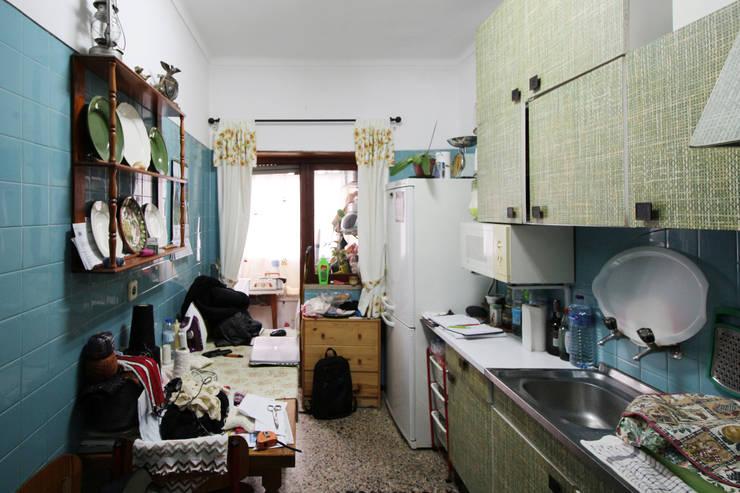Cozinha Antes :   por BL Design Arquitectura e Interiores