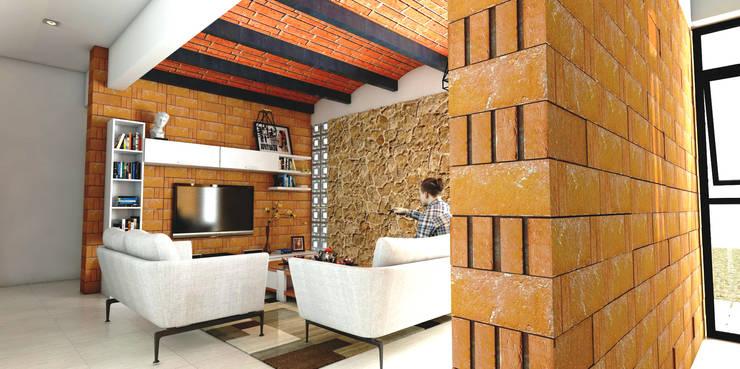 Гостиная в . Автор – Vintark arquitectura , Средиземноморский