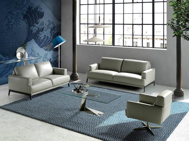 Salón de diseño con muebles de la colección Incanto by Angel Cerdá: Salones de estilo  de ANGEL CERDA