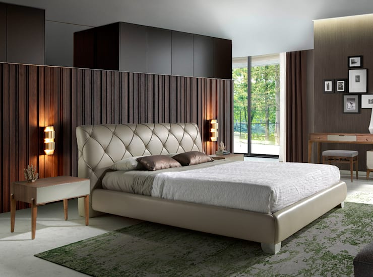 Dormitorio de diseño con muebles de la colección Incanto by Angel Cerdá: Dormitorios de estilo  de ANGEL CERDA