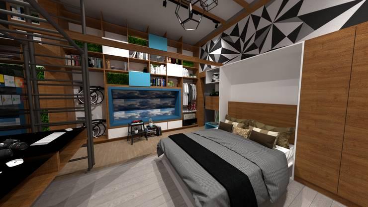Dormitorios: Cuartos pequeños  de estilo  por Rodrigo León Palma