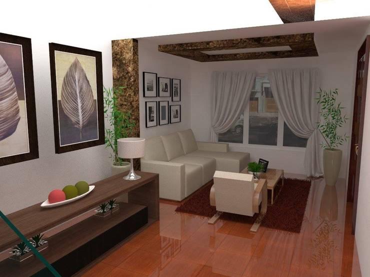 Sala de estar: Salas / recibidores de estilo  por ROQA.7 ARQUITECTOS