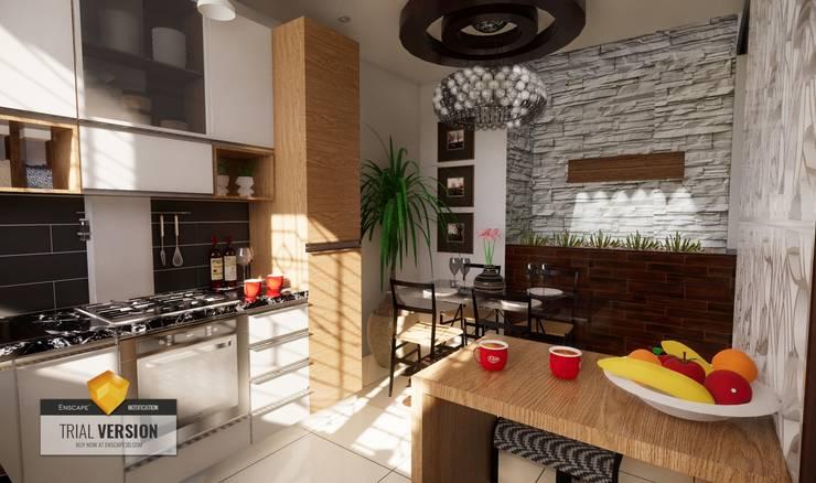 Cocina: Cocinas pequeñas de estilo  por ROQA.7 ARQUITECTOS