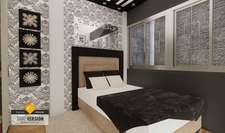Dormitorio: Cuartos pequeños  de estilo  por ROQA.7 ARQUITECTOS