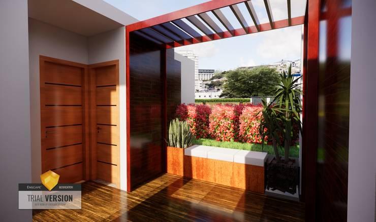 Terraza: Terrazas de estilo  por ROQA.7 ARQUITECTOS