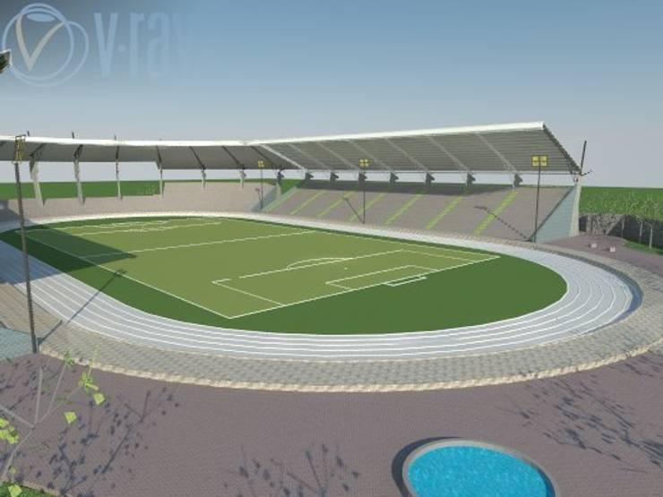 Vista de cancha de fútbol:  de estilo  por ROQA.7 ARQUITECTOS