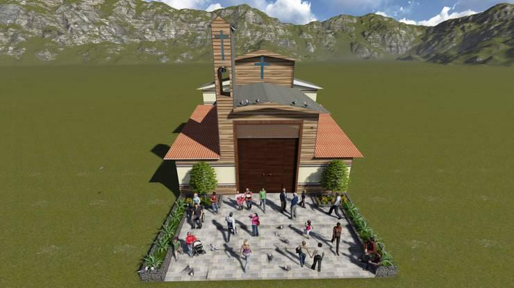 Atrio exterior: Terrazas de estilo  por ROQA.7 ARQUITECTOS