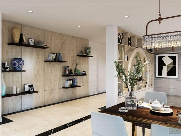 Hơi thở hiện đại cho Thiết kế nội thất Villa sành điệu hơn – ICON INTERIOR:  Phòng ăn by ICON INTERIOR