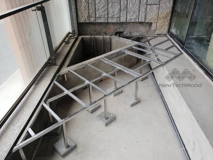 不鏽鋼骨架(保留防水層工法):  陽台 by 新綠境實業有限公司