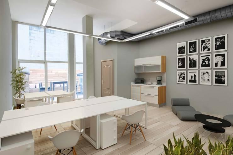 Home Staging virtual 3D Comedores de estilo moderno de Impuls Home Staging en Barcelona Moderno