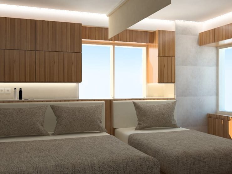 Kamar Tidur 1  (Perspektif Lain) :   by Tatami design