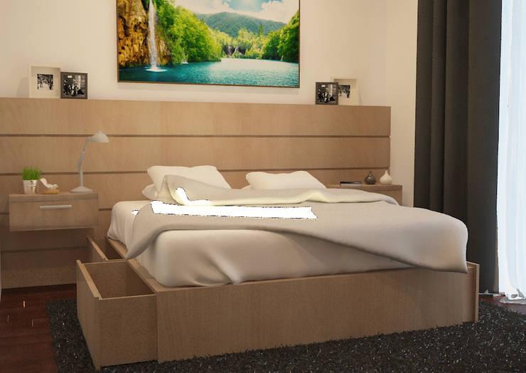 Design awal Kamar tidur 4:   by Tatami design