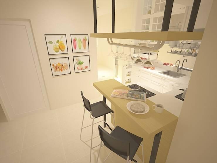 Mini Bar / Dining Area :   by Tatami design