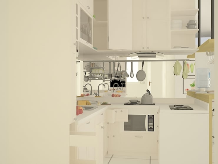 Kitchen Area :   by Tatami design