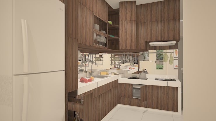 Kitchen Set (wood) :   by Tatami design