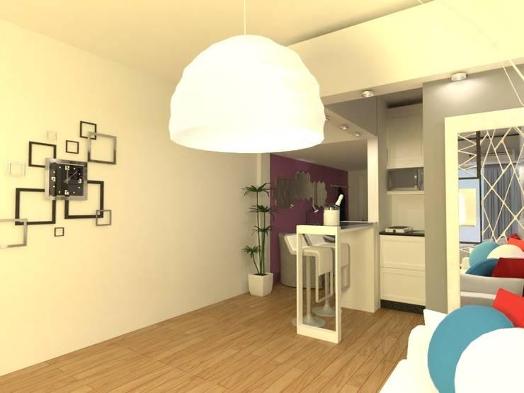 Arquimundo 3g - Diseño de Interiores - Ciudad de Buenos Airesが手掛けたリビング