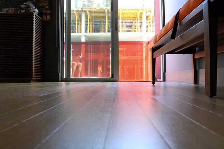 Hardwood Floor Refinishing:  Kitchen by David's Hardwood Flooring