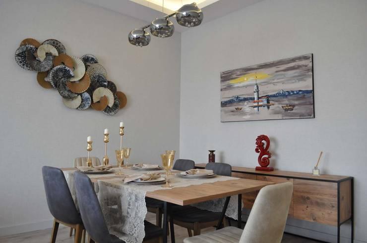 Mimayris Proje ve Yapı Ltd. Şti. – Lema Evleri İç Mekan Tasarımları:  tarz Yemek Odası