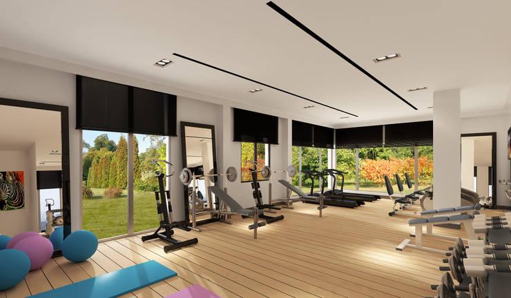 Mimayris Proje ve Yapı Ltd. Şti. – Fitness Salonu:  tarz Fitness Odası
