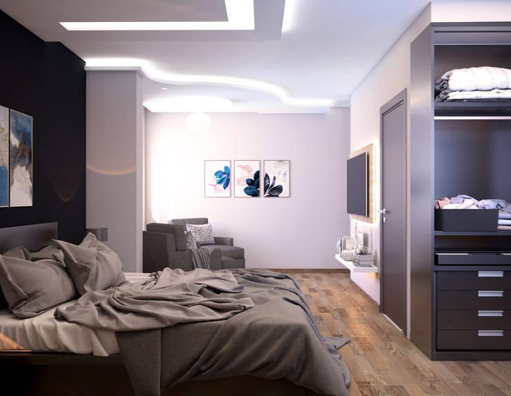 شقة سكنية :  تصميم مساحات داخلية تنفيذ 4walls