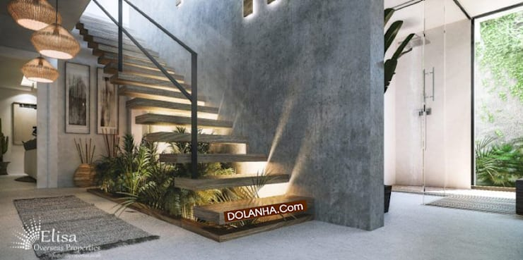 Càu thang nhà 2 tầng:  Cầu thang by DOLANHA