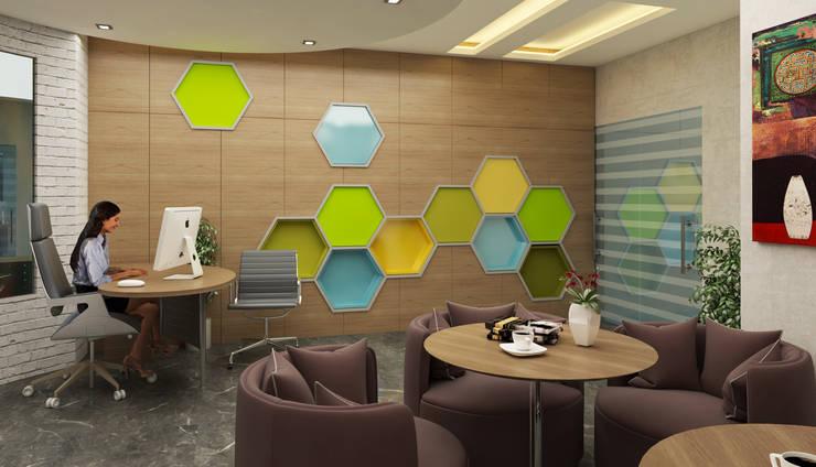 مركز خدمات رجال أعمال ViP:  تصميم مساحات داخلية تنفيذ 4walls