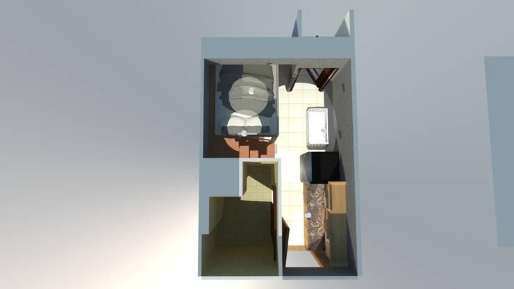 Loft Bed - Studio Size Apartment :   by Tatami design